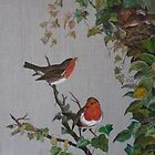 NESTING ROBINS by Marilyn Grimble