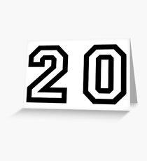 Number Twenty Greeting Card