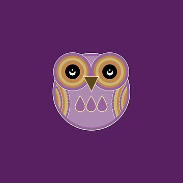 Purple Owl by foxietoo