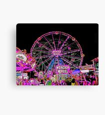CONEY ISLAND WONDER WHEEL IN NEON Canvas Print