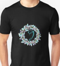 Letter J- butterfly, orchid, Alphabet, Monogram, Initial  Unisex T-Shirt