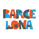 Barcelona Hand Drawn Text T-Shirt by designkitsch
