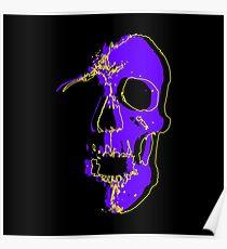 Skull - Purple Poster
