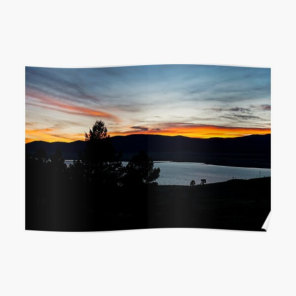 Sunset, Eagle Nest Lake State Park, New Mexico, USA Poster