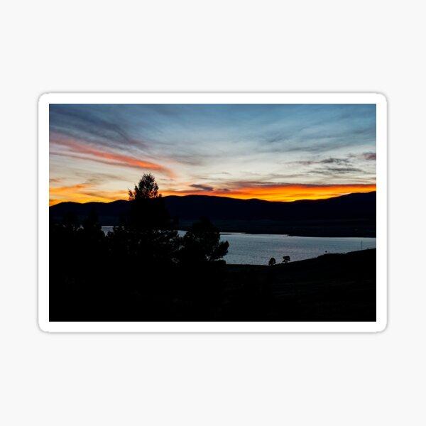 Sunset, Eagle Nest Lake State Park, New Mexico, USA Sticker