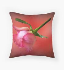 One rose Throw Pillow