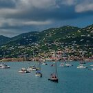 Boats off the Coast of St. Thomas, US Virgin Islands by Gerda Grice