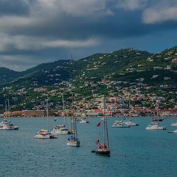 Boats off the Coast of St. Thomas, US Virgin Islands by gerdagrice