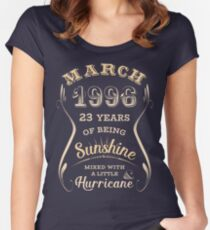 March 1996 23rd Birthday Gift Idea For Her Womens Fitted Scoop T Shirt