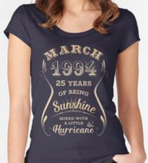 March 1994 25th Birthday Gift Idea For Her Womens Fitted Scoop T Shirt