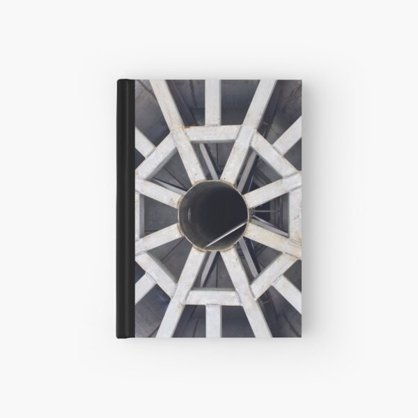 Church steeple structure inside Hardcover Journal