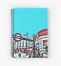 Piccadilly Circus by Tim Constable Spiral Notebook
