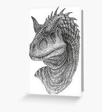 Carnotaurus Greeting Card