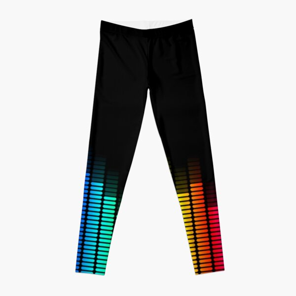 rainbow equalizer Leggings
