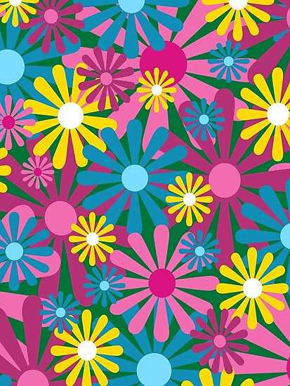 Funky Flowers by Louise Parton