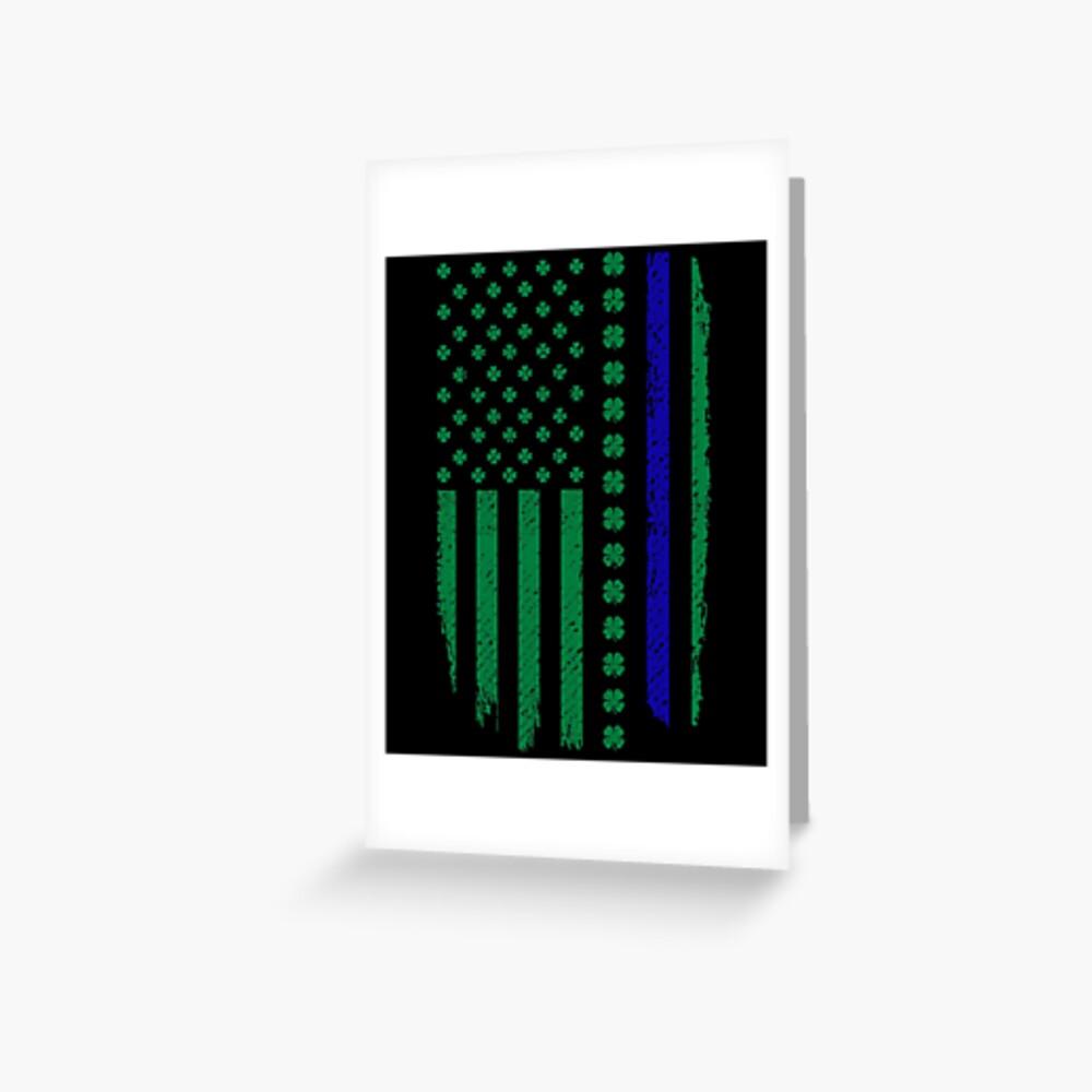 St Patricks Day T shirt USA Flag Irish Flag Shamrock NWT police