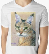 A Pensive Feline Men's V-Neck T-Shirt