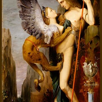 "Gustave Moreau ""Oedipus and the Sphinx"" by ALD1"