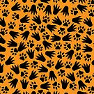 Lion and Alligator Tracks - African Animal Pattern by TimorousEclectc