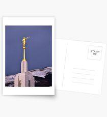 Moroni Atop Draper Temple Postcards