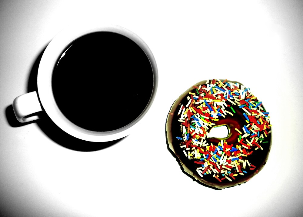 Damn Fine Coffee and Donut by Josephine Pugh