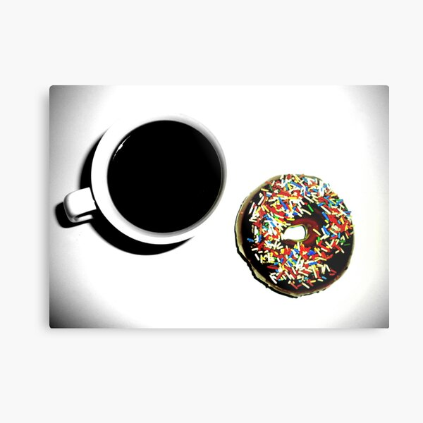 Damn Fine Coffee and Donut Metal Print