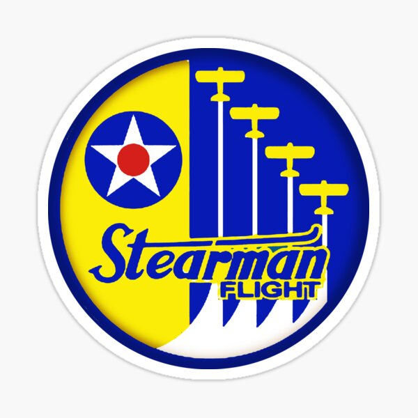 Stearman Flight Sticker