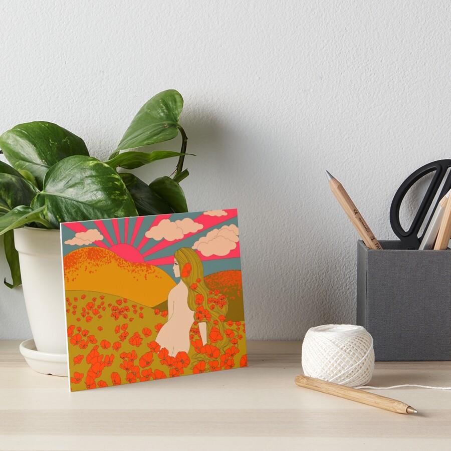 California Poppies Art Board Print