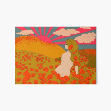 California Poppies Art Board Print