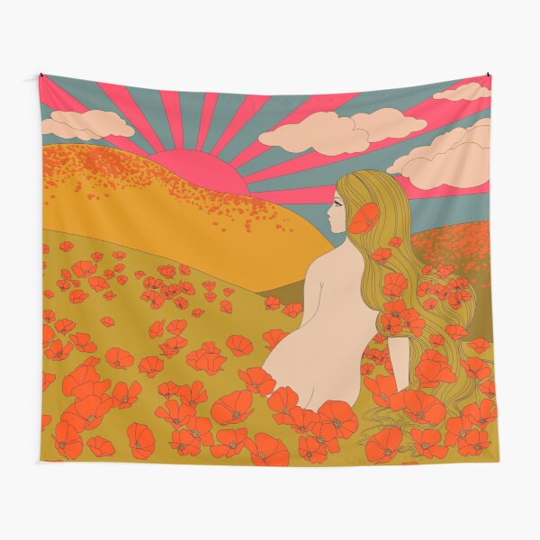 California Poppies Tapestry