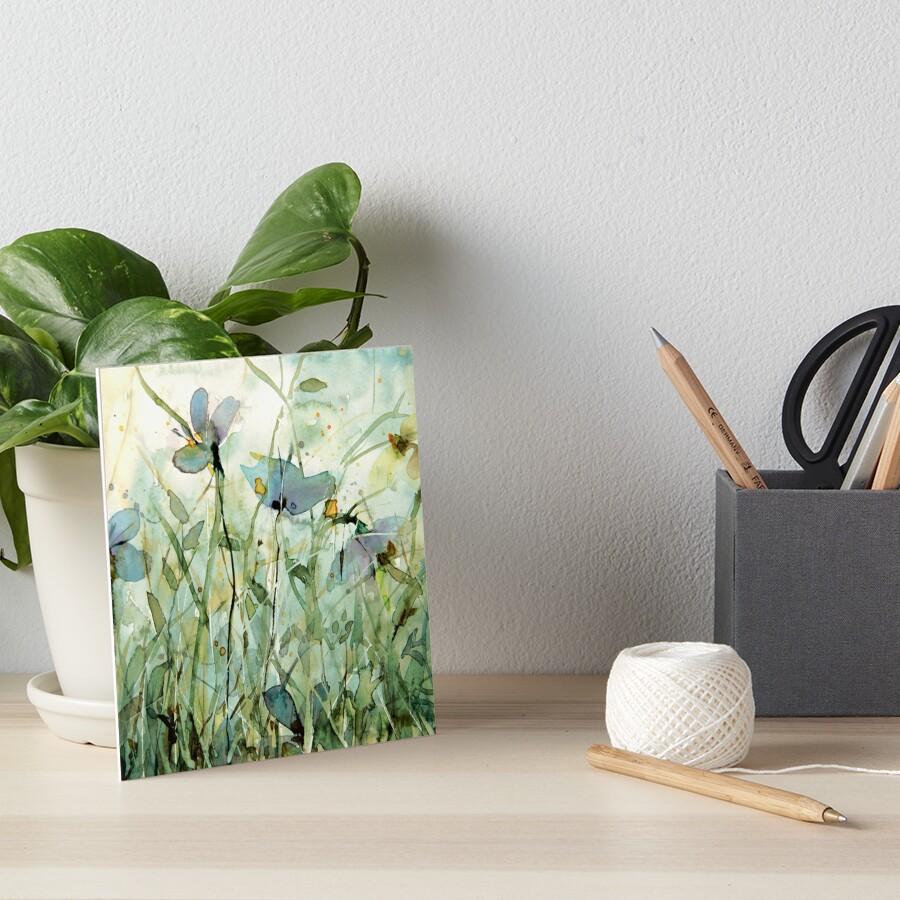 wild floral Art Board Print