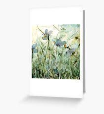 wild floral Grußkarte