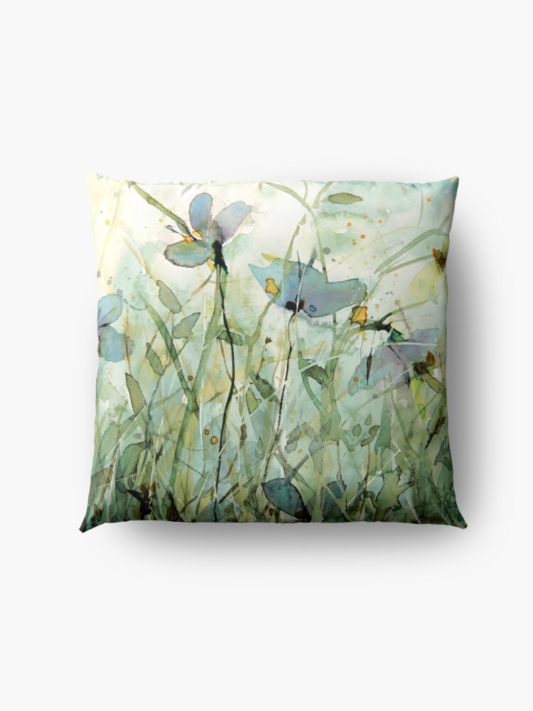 Alternate view of wild floral Floor Pillow