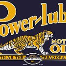 Power Lube Motor Oil old sign reproduction by htrdesigns