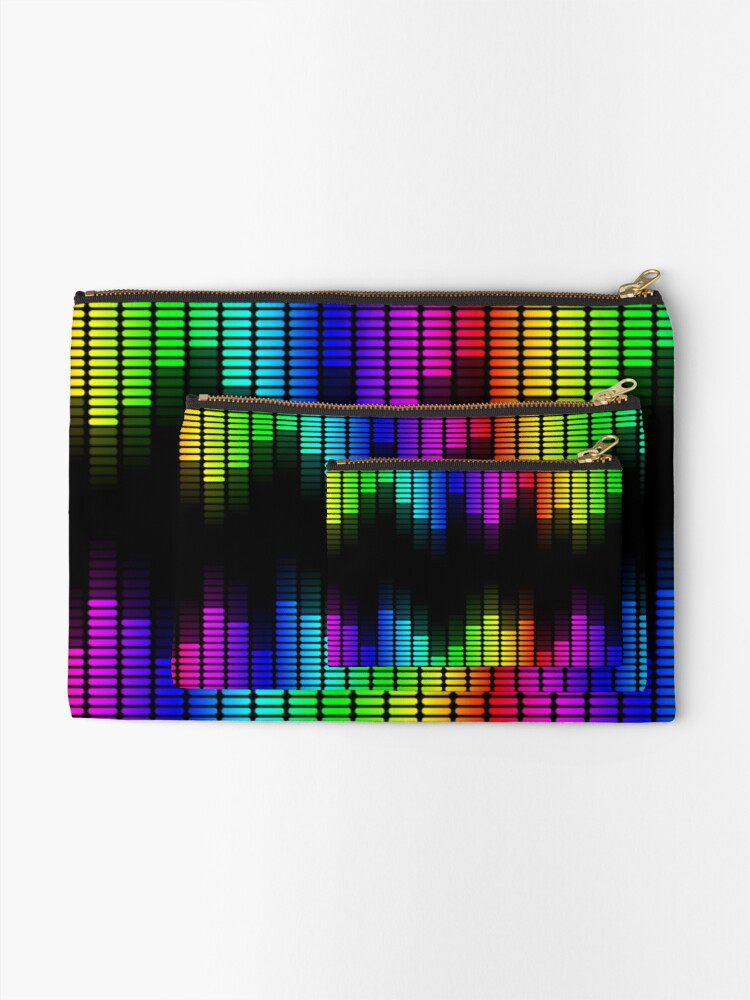 Alternate view of double rainbow equalizer Zipper Pouch