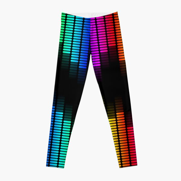 double rainbow equalizer Leggings
