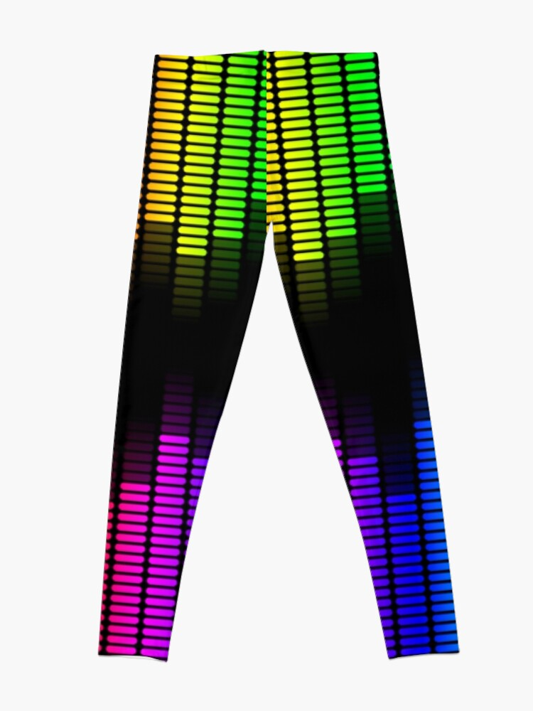 Alternate view of double rainbow equalizer Leggings