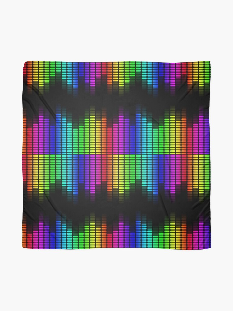 Alternate view of double rainbow equalizer Scarf