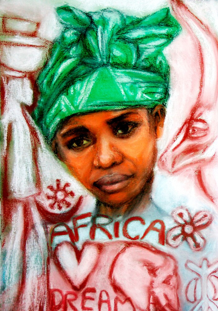 A dream of Africa 3 -young girl  by Marilyns