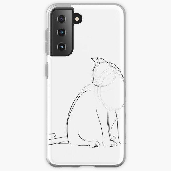 Katzenkonturen Samsung Galaxy Flexible Hülle