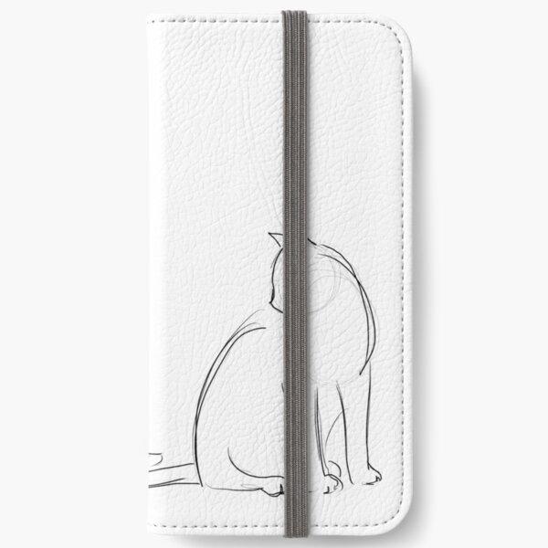 Katzenkonturen iPhone Flip-Case