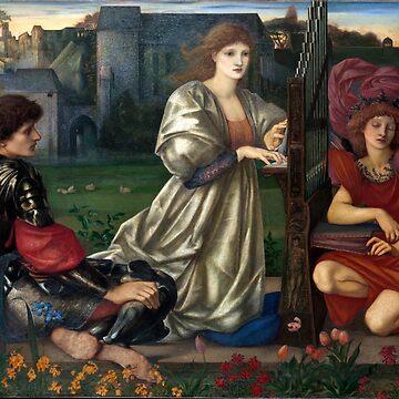 The Love Song - Edward Burne-Jones by forgottenbeauty