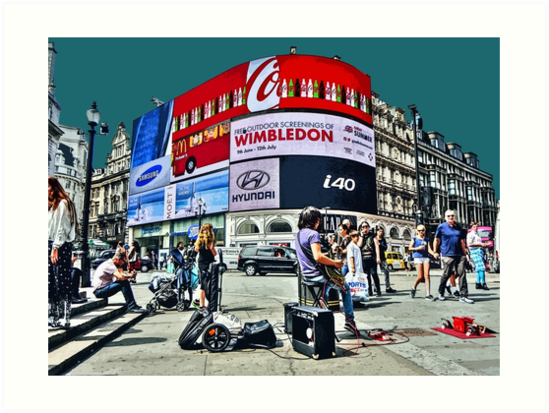 Busking at Piccadilly Circus by Tim Constable by TimConstable