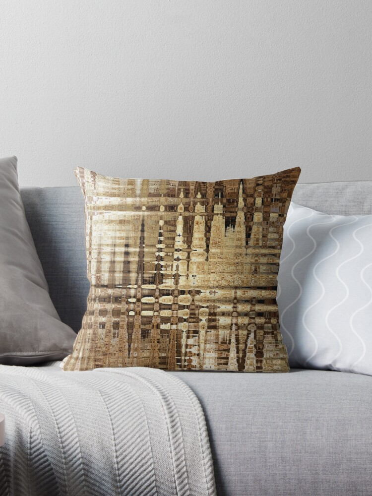 Neutral Energy Pillow by AuntDot