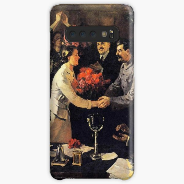A political poster, the Soviet Union, Stalin, the leadership of the Soviet Union, the people, applause Samsung Galaxy Snap Case