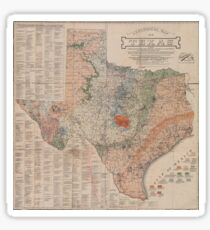 Vintage Geological Map of Texas (1920) Sticker