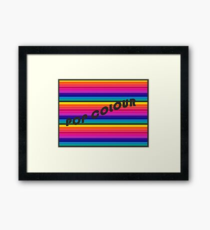 Design Trend in font and colour for 2019! Framed Print