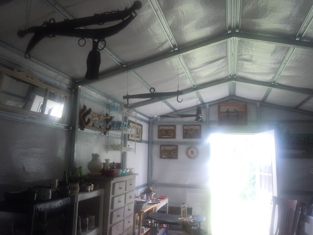 MY WORK SHOP ALMOST COMPLETE by James Gibbs
