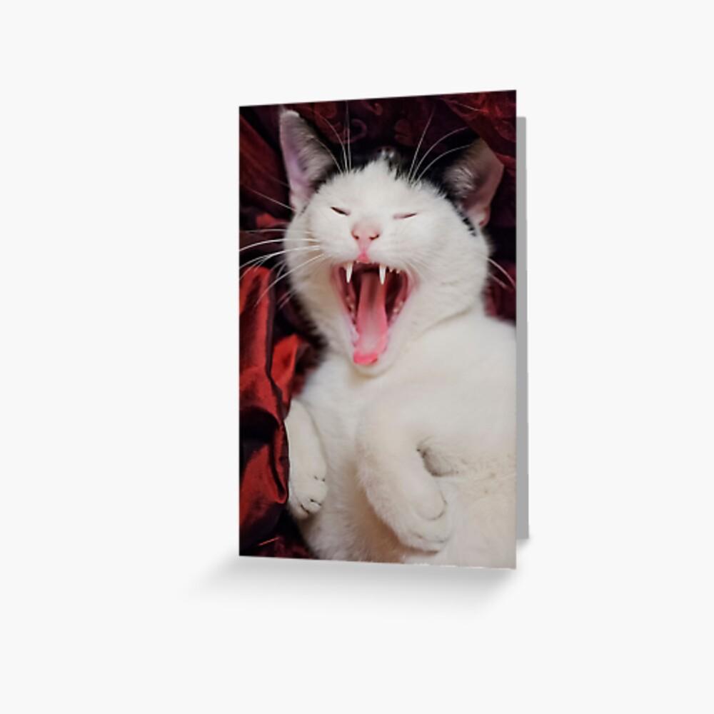 Yaaawn Greeting Card