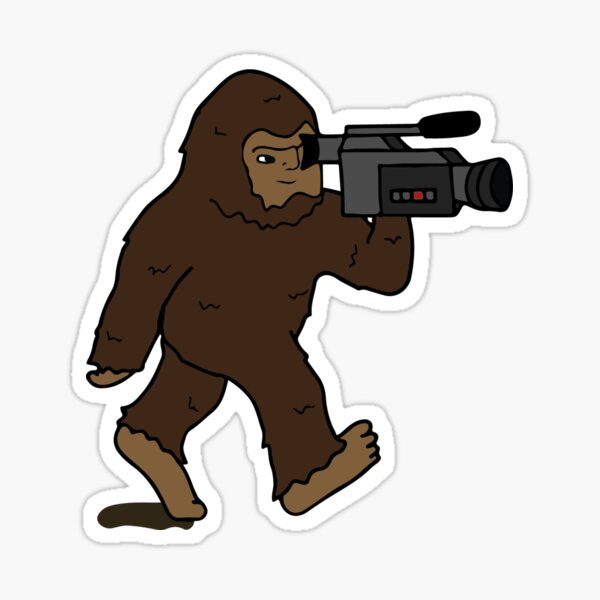 Bigfoot with a Video Camera Sticker